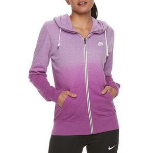 Nike Purple Ombre Full Zip Fitted Gym Vintage SM